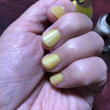 【画像付きクチコミ】今晩は😃🌃🌙*゚今日は、#デュカートのトロピカルパインを塗りました。が、なんかもう1変化欲しくてキャンドゥで買ったニュアンスチェンジを、その上から重ねて見ました😃🖐💖いい感じです🤡❤️