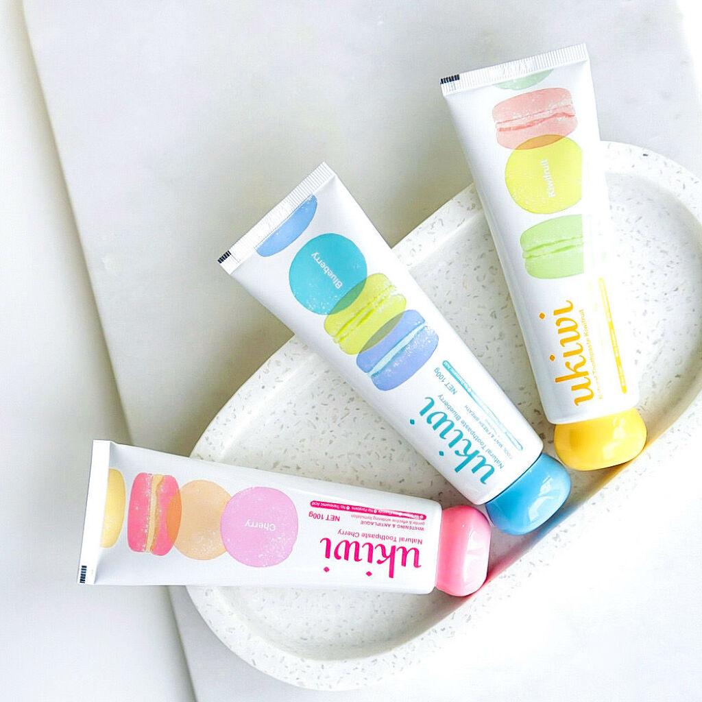 \世界で大注目のukiwiマカロン歯磨き粉がついに日本初上陸♡/(3枚目)