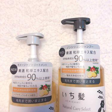ナチュラルケアセレクト モイスト シャンプー/トリートメント/いち髪/シャンプー・コンディショナーを使ったクチコミ(2枚目)