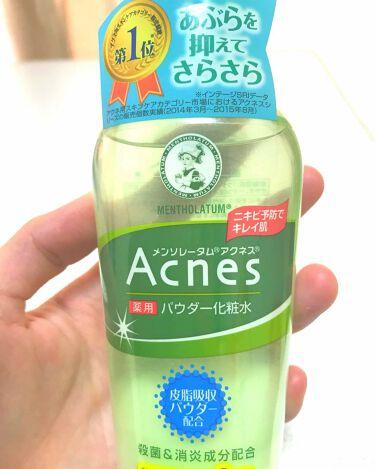 薬用パウダー化粧水/メンソレータム アクネス/化粧水を使ったクチコミ(1枚目)