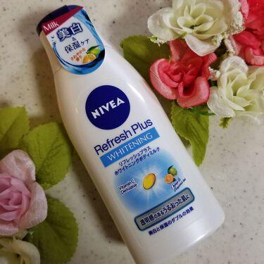 piccolo18さんの「ニベア リフレッシュプラス ホワイトニング ボディミルク<ボディローション・ミルク>」を含むクチコミ