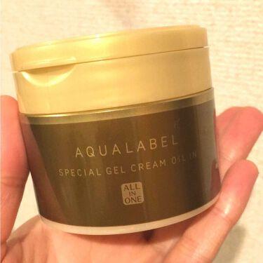 スペシャルジェルクリーム(オイルイン)/アクアレーベル/オールインワン化粧品を使ったクチコミ(1枚目)
