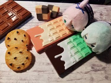 ミニチョコレートハイライター ピーチ&グロー/MAKEUP REVOLUTION/パウダーチークを使ったクチコミ(1枚目)