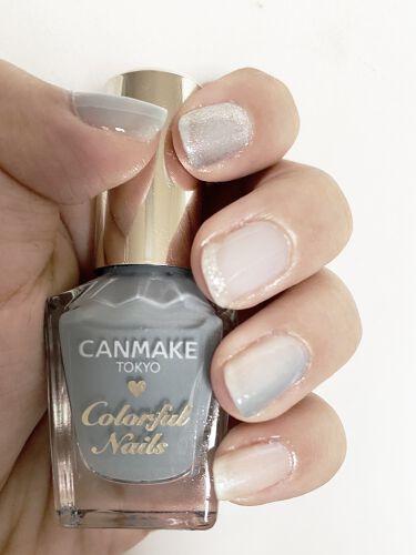 【画像付きクチコミ】夏っぽい爽やかな感じの水色ネイル!🌺🌴🏖メモです!!親指...CANMAKEスモーキーアクア、3度塗り人差し指...CANMAKEファンタジースカイ(いつかの限定色)中指...CANMAKEミルクシロップ2度塗り&スモーキーアクア1度...