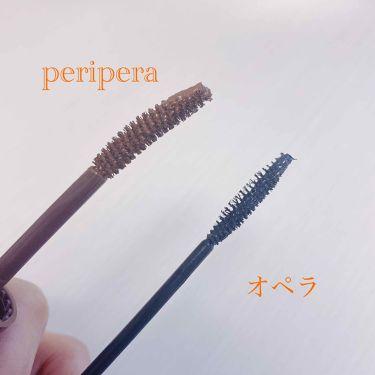 ピンク モーメント インク カラー カラ/PERIPERA/マスカラを使ったクチコミ(3枚目)