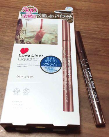 ラブ・ライナー リキッド/ラブライナー(Love Liner)/リキッドアイライナーを使ったクチコミ(1枚目)