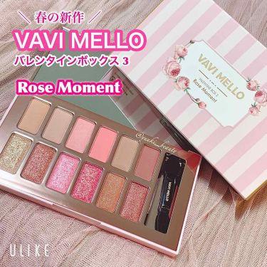 バレンタインボックス3ローズモーメント/VAVI MELLO(バビメロ)/パウダーアイシャドウを使ったクチコミ(1枚目)