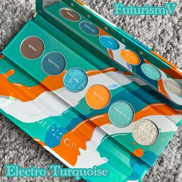 Futurism V: Electro-Turquoise/Kaleidos Makeup/パウダーアイシャドウを使ったクチコミ(1枚目)