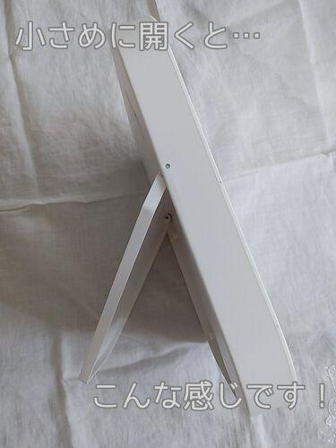枠が光るLED付ミラー スクエア/DAISO/その他化粧小物を使ったクチコミ(5枚目)