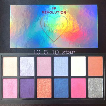 I♡MAKEUP I Heart Revolution Unicorn's Heat Palette /MAKEUP REVOLUTION/パウダーアイシャドウを使ったクチコミ(2枚目)