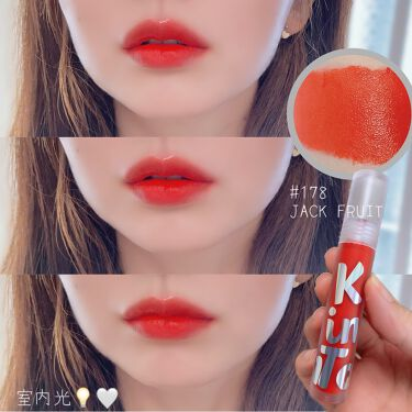 Tattoo lip candle tint/Keep in Touch/口紅を使ったクチコミ(8枚目)