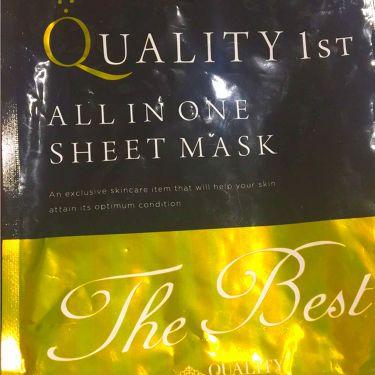 はたんさんの「クオリティファーストQUALITY1ST<シートマスク・パック>」を含むクチコミ