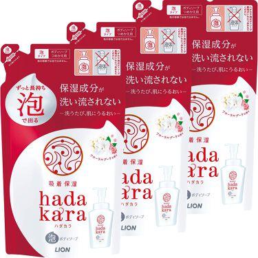 hadakara ボディソープ 泡で出てくるタイプ  フローラルブーケの香り 440ml