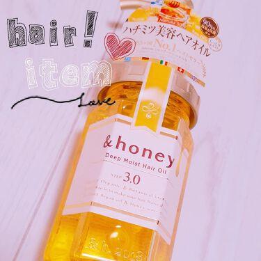 m i y u ☆*さんの「&honey(アンドハニー)ディープモイスト ヘアオイル3.0<ヘアパック・トリートメント>」を含むクチコミ