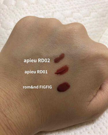 ジューシーラスティングティントカラー/rom&nd/口紅を使ったクチコミ(2枚目)