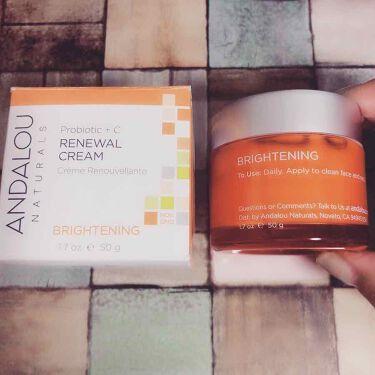 Probiotic + C Renewal Cream/Andalou Naturals/フェイスクリームを使ったクチコミ(1枚目)