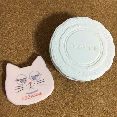 【画像付きクチコミ】セザンヌ🌼UVシルクカバーパウダー01ライト(明るい肌色)先日東急ハンズで購入したところ、可愛い猫型パフがついてきました🐈🐾水あり水なし両用で、もちもちして気持ちいいです発売前、セザンヌのUVクリアフェイスパウダーを使用していましたが...
