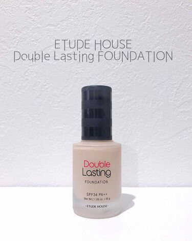 ダブルラスティング ファンデーション/ETUDE HOUSE/リキッドファンデーションを使ったクチコミ(1枚目)