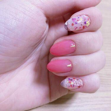 たかし on LIPS 「ピンク×押し花×クリアフレンチ♡♡可愛いに決まってるじゃん、、..」(2枚目)