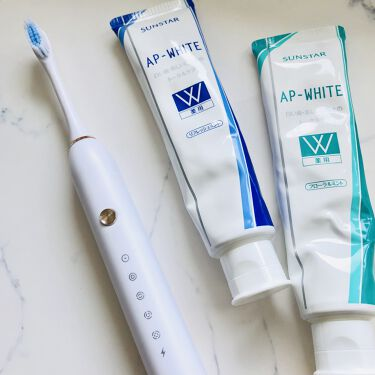 薬用APホワイトNA(リフレッシュミント)/サンスター/歯磨き粉を使ったクチコミ(1枚目)