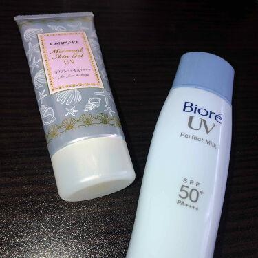 ビオレUV さらさらパーフェクトミルク SPF50+/ビオレ/日焼け止め(ボディ用)を使ったクチコミ(1枚目)