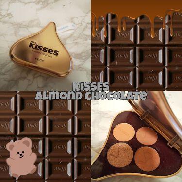 【画像付きクチコミ】・チョコレートの香りがするアイシャドウパレット🍫今回はエチュードハウスで購入できるキスチョコレートのアイシャドウパレットを紹介します!商品名ETUDEキスチョコレートプレイカラーアイズアーモンド種類は三種類あって私はアーモンドを購入し...