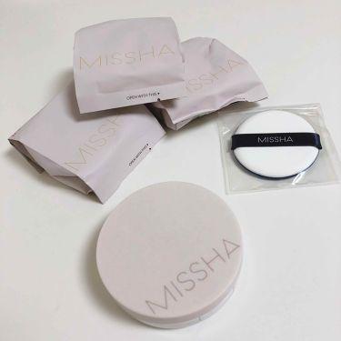 マジッククッション(カバーラスティング)/MISSHA/その他ファンデーションを使ったクチコミ(2枚目)