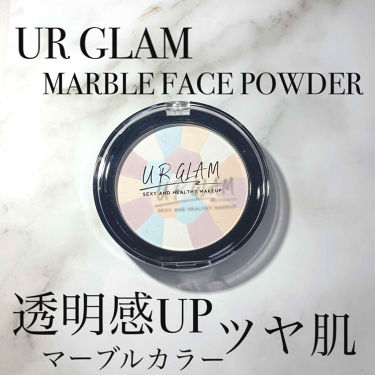 UR GLAM MARBLE FACE POWDER/DAISO/プレストパウダー by サヤコ