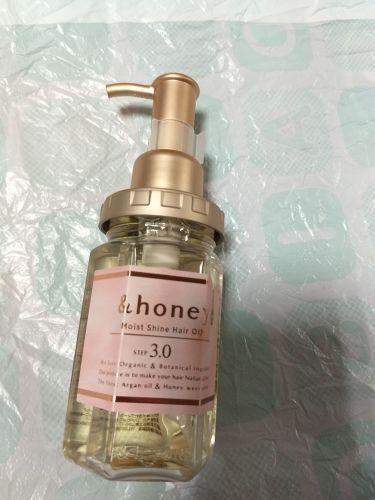 モイストシャインヘアオイル3.0 カラーヘア用/&honey/アウトバストリートメントを使ったクチコミ(1枚目)