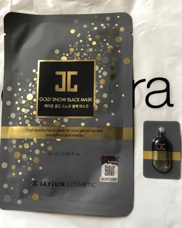 ジェイジュン ゴールドスノーブラックマスク/JAYJUN/シートマスク・パックを使ったクチコミ(1枚目)
