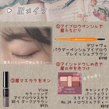 リシェ カラーリング アイブロウマスカラ/Visée/眉マスカラを使ったクチコミ(2枚目)