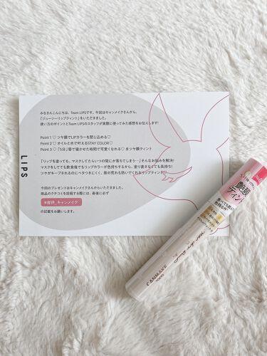 ジューシーリップティント/キャンメイク/口紅を使ったクチコミ(4枚目)