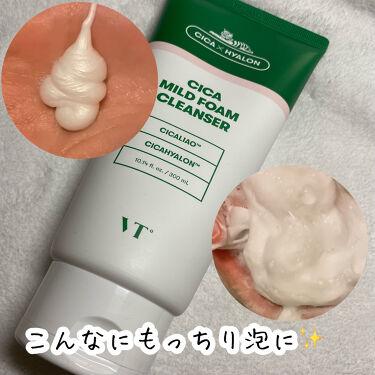 CICA MILD FOAM CLEANSER/VT Cosmetics/洗顔フォームを使ったクチコミ(4枚目)
