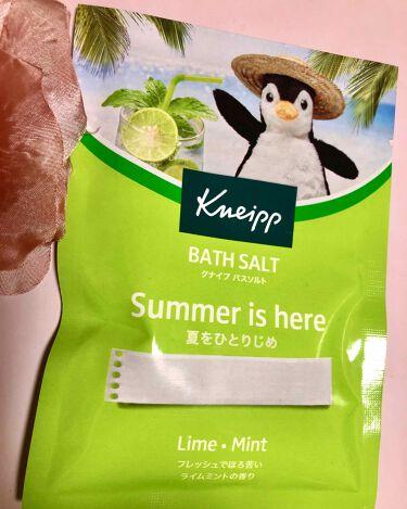 クナイプ バスソルト ライムミントの香り/クナイプ/入浴剤を使ったクチコミ(1枚目)
