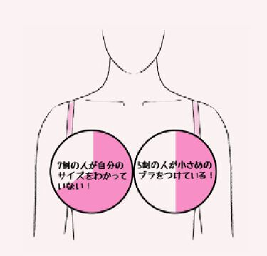 \印刷して使えるサイズ測定メジャーダウンロード出来ます/  「あなたのバストサイズ、本当に合っていますか?」 大手下着メーカーの調べによると、多くの方は適正なブラのサイズと異なるものをつけている場合が実は多いです。実に女性の71%がご自分の胸の正しいサイズを認識しておらず、更にそのうちの54%が正しいサイズよりも小さいブラジャーをつけているそうです。  なんとなくの認識でブラを購入して、サイズが合わなかったとなるともったいないですので、 店舗などで測る機会がない方でも、測定して正しいサイズを把握していただければと思います。  こちらでは、正しいバストサイズの測り方を イラスト&印刷して使えるサイズ測定メジャー付きで解説しておりますので、是非チェックしてみてくださいね♪  ↓正しいバストサイズの測り方はこちら↓ https://bit.ly/2RGUXWC