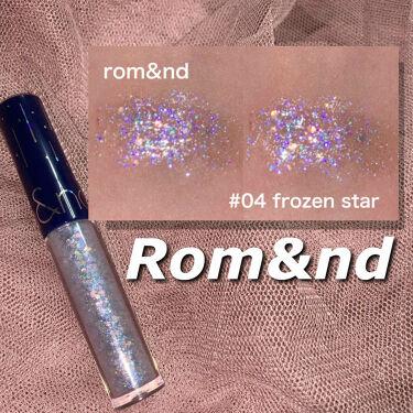 リキッド グリッター シャドウ/rom&nd/リキッドアイシャドウを使ったクチコミ(1枚目)