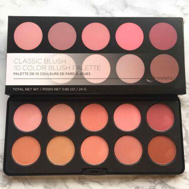 BH Cosmetics Professional Blush - 10 Color Blush Palette/bh cosmetics/パウダーチークを使ったクチコミ(2枚目)
