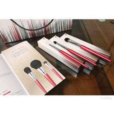 熊野筆アイシャドウブラシ 平型 大/メイクブラシを使ったクチコミ(1枚目)