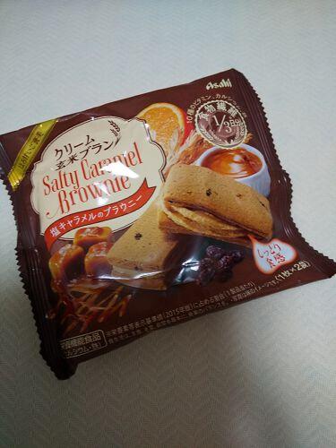 クリーム玄米ブラン 塩キャラメルのブラウニー/アサヒフードアンドヘルスケア/食品を使ったクチコミ(1枚目)
