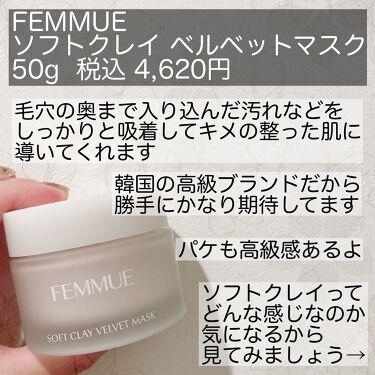 ソフトクレイ ベルベットマスク/FEMMUE/洗い流すパック・マスクを使ったクチコミ(2枚目)