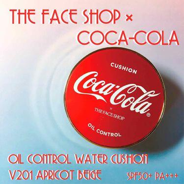 コカコーラ オイルコントロールウォータークッション/ザ フェイスショップ/その他ファンデーションを使ったクチコミ(1枚目)