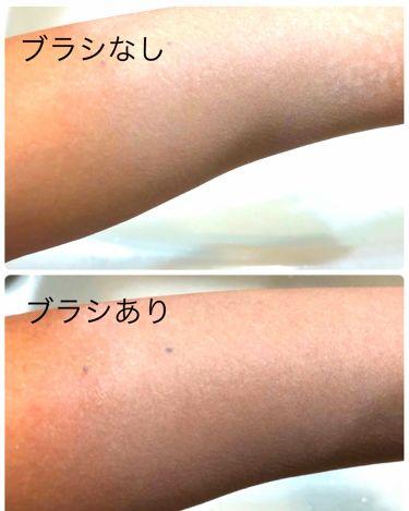 ごくふわっ春姫スライド式携帯メイクブラシ/DAISO/メイクブラシを使ったクチコミ(2枚目)
