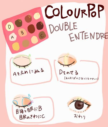DOUBLE ENTENDRE/ColourPop/パウダーアイシャドウを使ったクチコミ(1枚目)