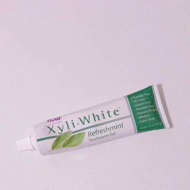XyliWhite Toothpaste Gel Refreshmint/Now Foods/歯磨き粉を使ったクチコミ(2枚目)