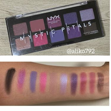 MYSTIC PETALS SHADOW PALETTE(ミスティック ペタル シャドウ パレット)/NYX Professional Makeup/パウダーアイシャドウを使ったクチコミ(2枚目)