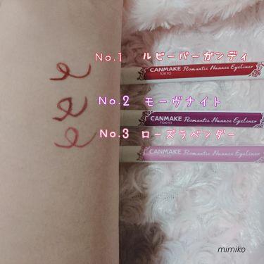 ロマンティックニュアンスアイライナー/CANMAKE/リキッドアイライナーを使ったクチコミ(3枚目)