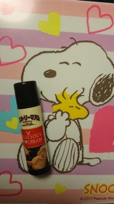 デリシャスリップクリーム カントリーマアムの香り/Pure Smile/リップケア・リップクリームを使ったクチコミ(1枚目)