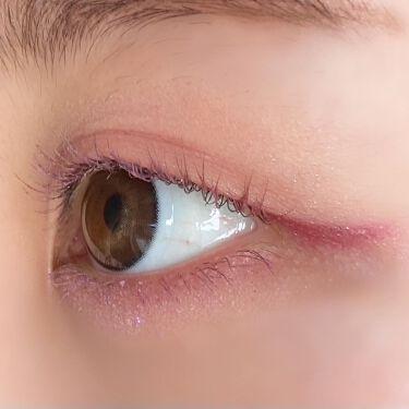 【画像付きクチコミ】【#コスメレポと#カラコンレポ】@eyeputti_official様から数量限定マスカラ(ダークチェリー)を頂きました🍒スライドしてね→→→赤紫色でパールが配合されていてツヤッとしてる。光が当たってないところだと黒に見えるけど、...