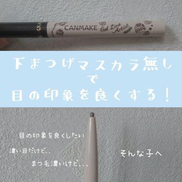 ジェルラインアーティスト/CANMAKE/ジェルアイライナーを使ったクチコミ(1枚目)