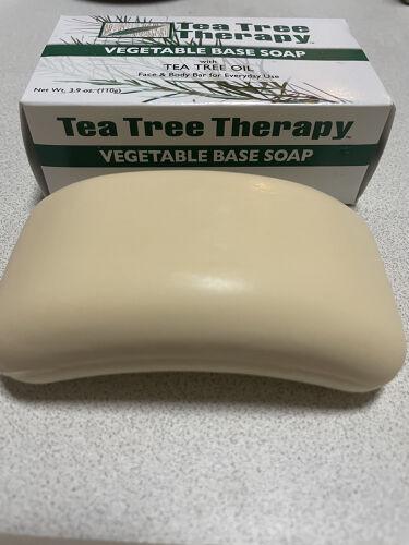 Vegetable Soap Eucalyptus/Tea Tree Therapy/洗顔石鹸を使ったクチコミ(3枚目)